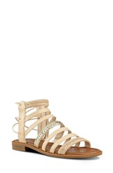 Nine West Women's Xema Sandal Light Natural Leather