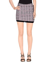 Mariuccia Skirts Mini Skirts Women Grey