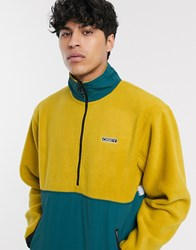 Obey Gallagher Fleece Jacket In Gold Yellow