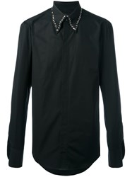Dsquared2 Studded Collar Shirt Black