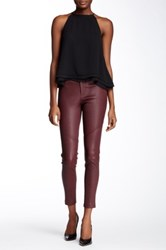 Yigal Azrouel Moto Leather Pant Purple