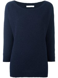 Societe Anonyme Round Neck Jumper Blue