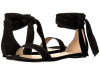 Ivanka Trump Carthe Black Suede Savoy Suede Women's Sandals