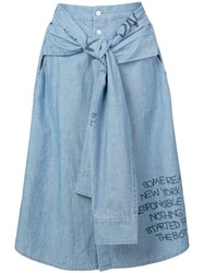 Haculla Responsible For Nothing Hybrid Skirt Blue