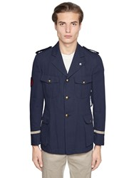 Lardini Cotton Canvas Marine Jacket