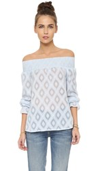 Rebecca Minkoff Atmosphere Top Sky Blue