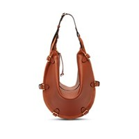 Altuzarra Play Small Leather And Suede Hobo Bag Brown