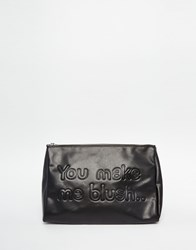 Monki You Make Me Blush Makeup Bag Black