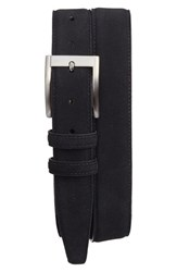 Torino Belts Men's Big And Tall Suede Belt Black