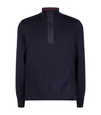Barbour International Throttled Half Zip Jumper Male Navy