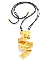 Josie Natori Brushstroke Necklace Gold