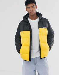 Element Primo Alder Avalanche Puffer Jacket With Hood In Yellow