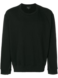 3.1 Phillip Lim Long Sleeve Re Constructed Sweatshirt Black