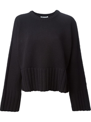 T By Alexander Wang Slouchy Knit Sweater Black