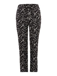 Therapy Speckle Print Trousers Black White
