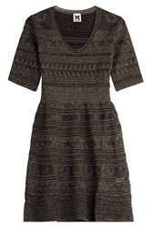 M Missoni Metallic Knit Dress Black