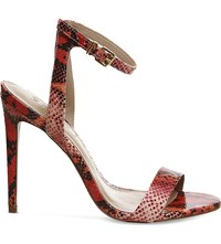 Office Alana Snake Embossed Leather Sandals Bright Snake Leather