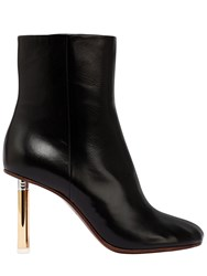Vetements 90Mm Lighter Leather Ankle Boots Black