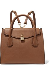 Michael Michael Kors Mercer Convertible Textured Leather Backpack Tan