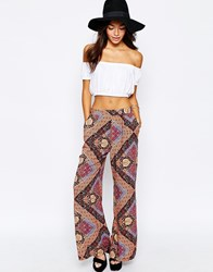 New Look Printed Palazzo Trousers Multicoloured