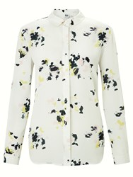 John Lewis Kin By Scatter Floral Long Sleeve Shirt White