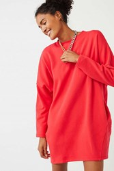 Urban Outfitters Uo Sweatshirt Pocket Dress Red
