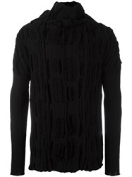 Individual Sentiments Textured Jumper Black