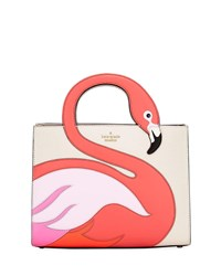 Kate Spade By The Pool Flamingo Sam Satchel Bag Bleach Bone