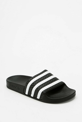 Adidas Originals Adilette Pool Slide Sandal Black And White