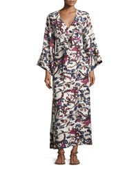 Elizabeth And James Howe Long Sleeve Kimono Robe Dress Ivory