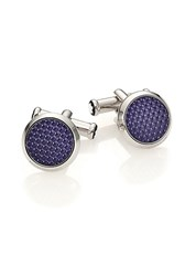 Montblanc Textured Lacquered Cuff Links Blue