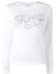 Kenzo Logo Knitted Top Women Cotton S White