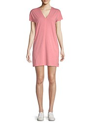 Saks Fifth Avenue Cotton T Shirt Dress Soft Coral
