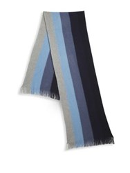 Saks Fifth Avenue Collection Ombre Ribbon Scarf Blue Combo