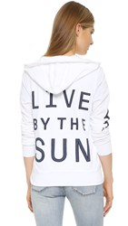 Sundry Live By The Sun Zip Hoodie White