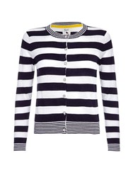 Yumi Stripe Knit Cardigan Black