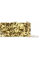 Halston Glittered Acrylic Clutch Gold
