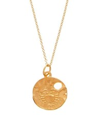 Alighieri Cancer 24Kt Gold Plated Necklace Gold