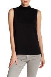 French Connection Polly Plains Mock Neck Tank Black