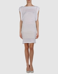 Jersey Costume National Short Dresses White