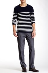 Louis Raphael Solid Herringbone Modern Fit Pant Gray