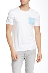 Jason Scott Blue Square Crew Neck Tee White