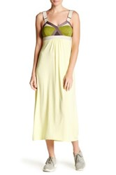 Vpl V Neck Breaker Maxi Dress Yellow