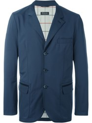 Loro Piana Flap Pocket Blazer Blue