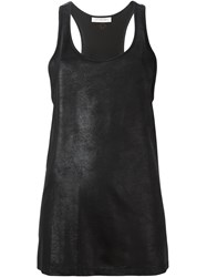A.F.Vandevorst Leather Effect Tank Top Black