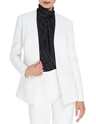 Ellen Tracy Stain Lined Twill Jacket White