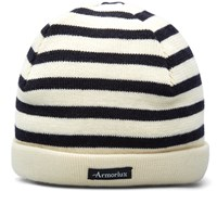 Armor Lux Striped Mariner Beanie White