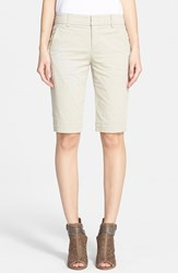 Women's Vince Vintage Wash Bermuda Shorts Light Khaki