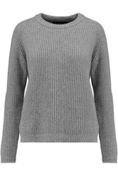 Pringle Of Scotland Ribbed Cashmere Sweater Gray