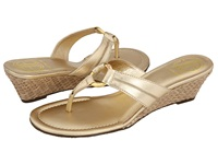 Lilly Pulitzer Mckim Wedge Gold Metallic Women's Sandals